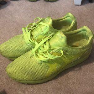 lime green asics